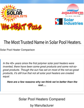 Solar Industries Pool Heating